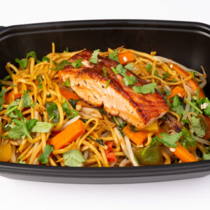 PREP - Salmon Fillet, Stir Fried Vegetables & Protein Noodles