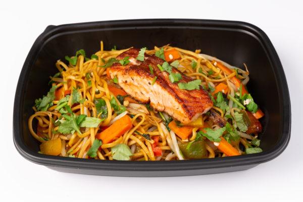 PREP - Salmon Fillet, Stir Fried Vegetables & Protein Noodles
